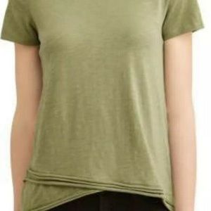 Time and Tru Heather Avocado Green Tope Size Large